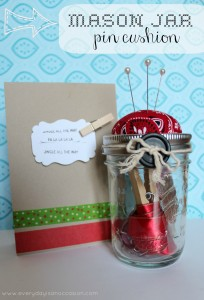 Mason Jar Pin Cushion by Every Day is an Occasion