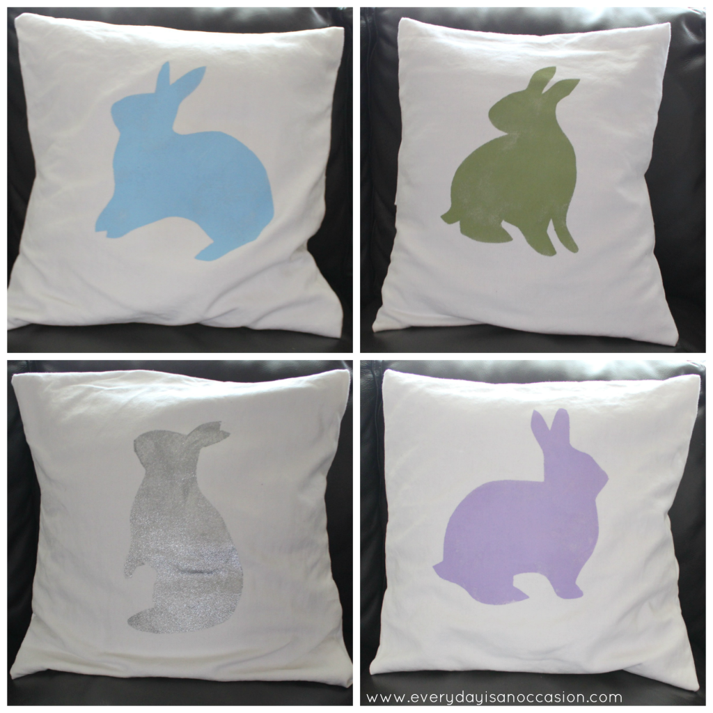 Bunny pillows by Every Day is an Occasion