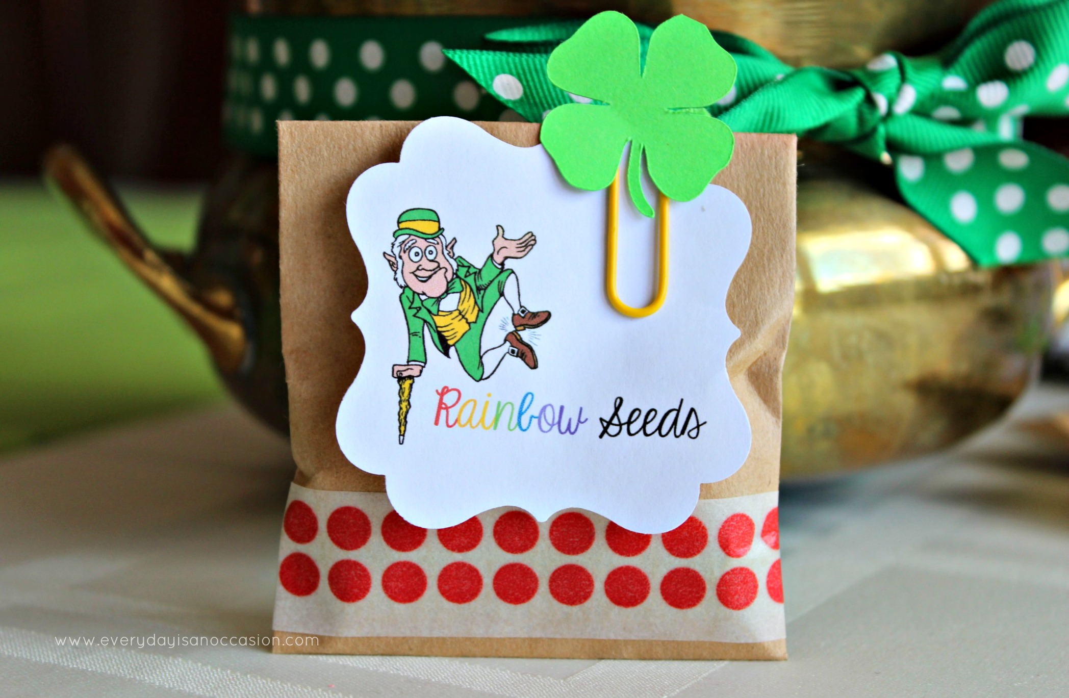 Rainbow Seeds from a Leprechaun by Every Day is an Occasion