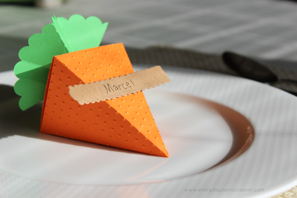Carrot Treat box place card