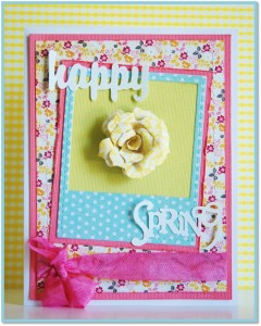 shelly's card Happy Spring
