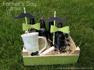 Father's Day Mug and Decorated Root Beer Bottles