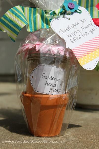 Back to school teacher gift flower pot