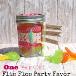First BIrthday Flip Flop Favor