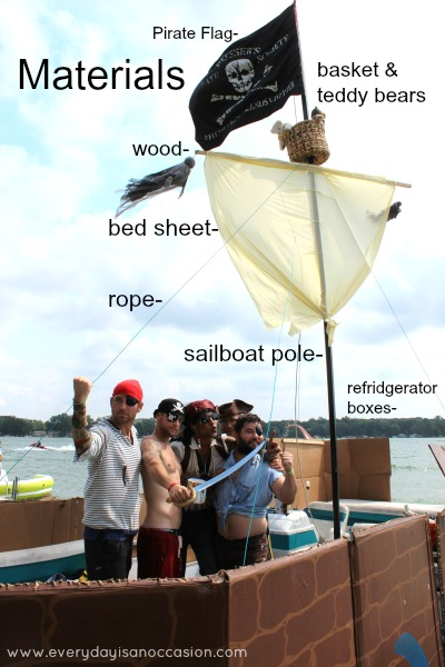 DIY Pirate ship by Every Day is an Occasion