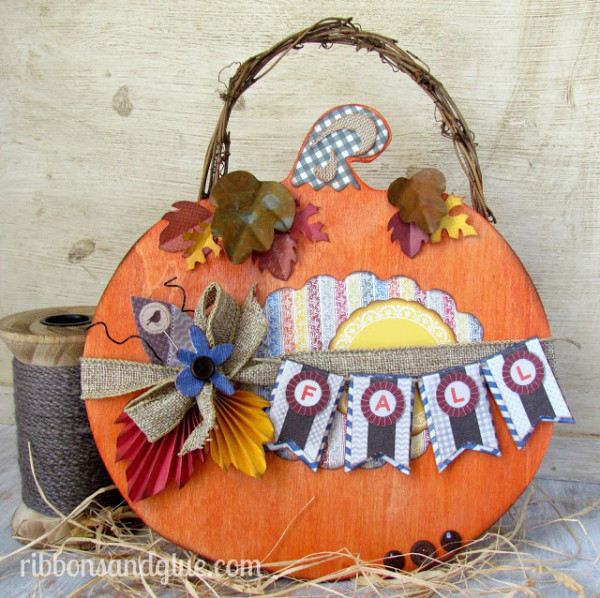 Fall Pumpkin Plaque