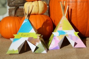 Tepee Place Cards