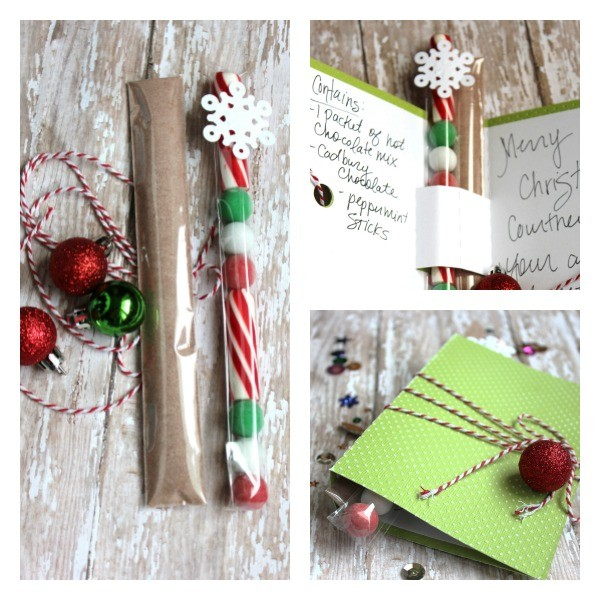Hot chocolate gift using core'dinations paper