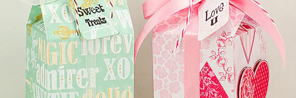 Sizzix Milk Carton die Valentine Boxes by A Mermaids Crafts