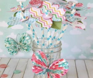 Ribbons and Glue Paper Springy Paper Straw Blossoms