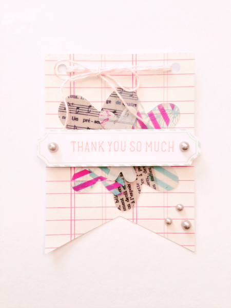 craft for a cause thank you card