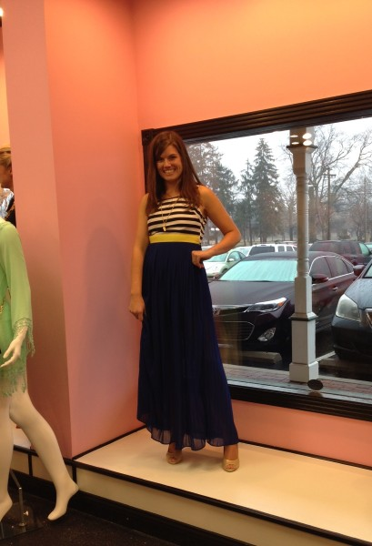 Blogger JillLebbin from Every Day is an Occasion modeling for Flourish Boutique