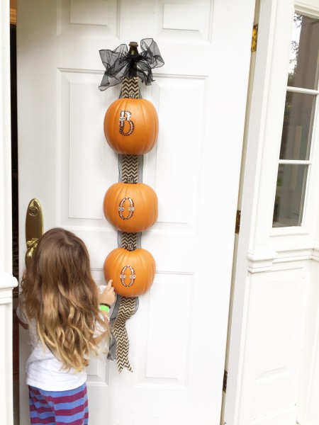Pumpkin Door Decoration