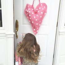 Burlap Heart Door Hanger