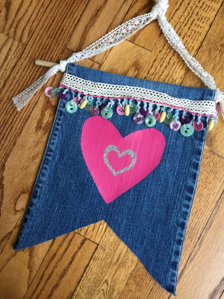 Upcycled Jean Banner
