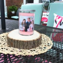 DIY Photo candle gift