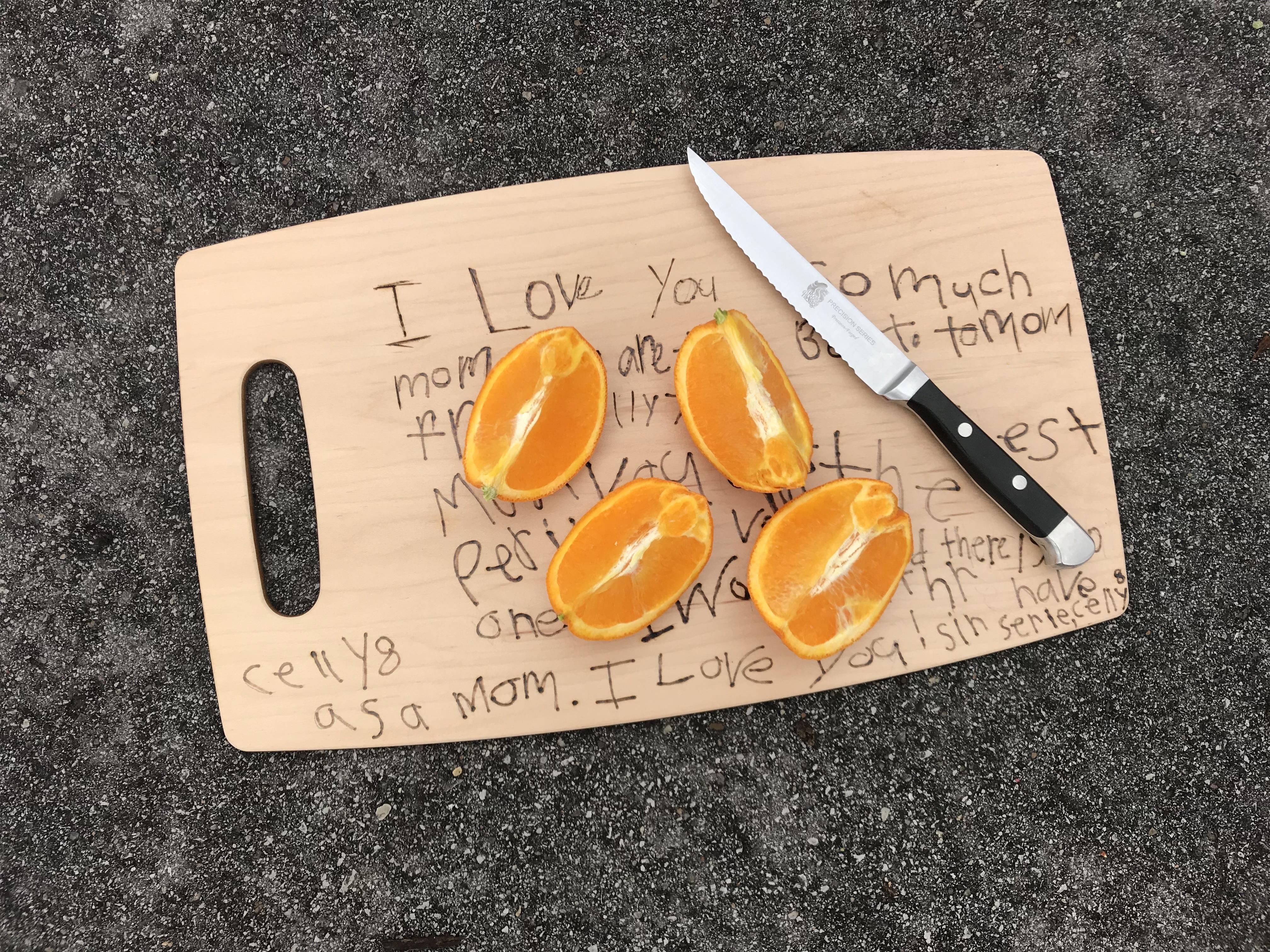 Cutting Board Kids Craft